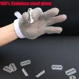3 перста Анти--Отрезали перчатки сетки нержавеющей стали для Butcher