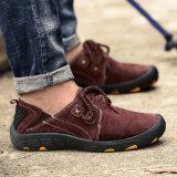 2017 сделал в ботинках Китая ленивых Trekking ботинки напольного Pigskin ботинок кожаный прочным для ботинок людей Lace-up