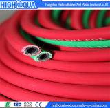 Boyau en caoutchouc simple/jumeau de tresse flexible de fibre de soudure