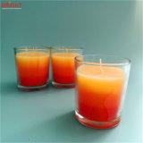 Handgemachte manuelle Kunst-orange Glasglas-Kerze mit Farbe drei