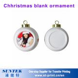 Ornament van Kerstmis van de sublimatie het Lege voor de Gift van Kerstmis van de Druk van de Overdracht