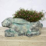 Flowerpot отделки камня гранита украшения сада низкой цены Cyan