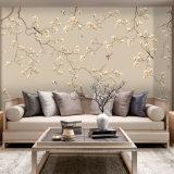 Papel de parede minimalista moderno do fundo do bordado