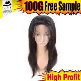 Perruque bon marché de lacet de cheveux humains de Remy pleine à Dubaï