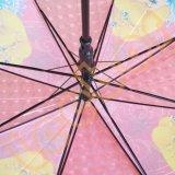 Маленькие дети в дешевой 3D-Poe прозрачный детский зонтик для установки вне помещений