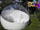 Aufblasbares transparentes Zelt Luftblase des Rasens für das Kampieren
