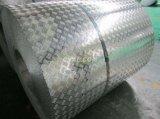 コンパス5棒製造所ミラーの終わりを用いるアルミニウムチェック模様の踏面シートのコイル