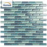 卸し売り最上質の青いストリップによって艶をかけられるガラスモザイク・タイル