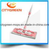 Mop Microfiber плоский с телескопичной нержавеющей сталью Поляк