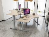 二人用の電気オフィス・コンピュータの机