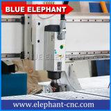 Blue Elephant 1212 Router CNC máquina de grabado de corte de madera para el aluminio para la venta de 1200x1200mm Mesa de trabajo
