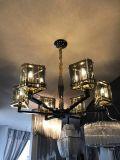 Lampada decorativa Pendant di vetro di Gray fumoso dell'hotel (KAP17-032)
