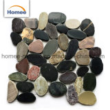 Mischungs-Farbe geschnittene preiswerte im Freienfußboden-Fliese-Kiesel-Stein-Mosaik-Fliesen