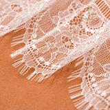 Tela al por mayor del cordón del bordado de la cuerda para las alineadas de boda
