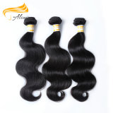 100%Human毛のWeft安いペルーの緩い波の毛
