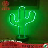 Indicatore luminoso al neon del tavolo della decorazione della Tabella del cactus del LED