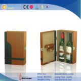 Boîte d'affichage personnalisé de promotion du vin 2 bouteilles de vin en cuir Boîte de rangement (6005)