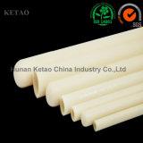 Tubo di ceramica dell'allumina avanzata 99.5% per la fornace del riscaldatore, allumina Rohi solidi di ceramica