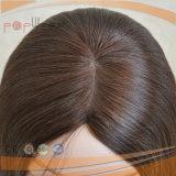 Parrucca superiore di seta della pelle ebrea di qualità superiore di tecnica (PPG-l-01461)
