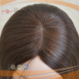 Alta técnica superior de la seda de la piel judía peluca (PPG-L-01461)