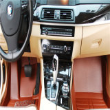 PVC+Leather 물자 Anty 미끄러짐 자동차는 차 지면 매트를 융단을 깐다