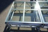 屋外のイベントのための階段との携帯用アルミニウム段階ガラスPlatdorm
