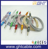 Высокое качество 3,5 мм нейлон экранирующая оплетка кабеля аудио 3ftgold позолоченный Разъем - разъем Aux кабель для наушников