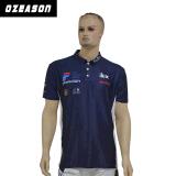 製造業者OEMのスクリーン印刷の方法スパンデックスポリエステルGoflのワイシャツ(P006)