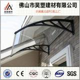 instalación fácil del toldo del policarbonato de 1000*1000m m del marco del balcón del pabellón de los materiales al aire libre de aluminio sólidos de Buliding