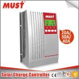 Hotselling 24V 12V 20A MPPT Controlador de carga solar con 130V max de entrada de PV