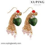 Pierre Heart-Shaped 92234 Fashion Bijoux Gold-Plated Eardrop en 18k