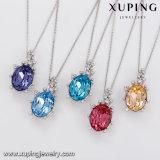43833 Xuping Саудовской золотые ожерелья из кристаллов Swarovski Парижем камня подвесной ожерелья Ювелирные изделия