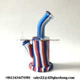 Glaswasser-Rohre, die Wasser FDA Silikon-Bambusart Headshop rauchen