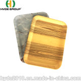 Hotsale mehrfachverwendbares biodegradierbares Nahrungsmittelmelamin-Bambusfaser-Tellersegment mit Firmenzeichen-Entwurf