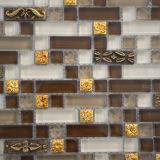 Goldene Kristallglas-Mischungs-Metallmosaik-Fliesen für Wand-Dekoration