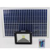 L'indicatore luminoso solare più luminoso IP65 collegato impermeabilizza la lampada di inondazione autoalimentata solare con il cavo ultra lungo di 16FT, crepuscolo per albeggiare inserita/disinserita automatico per la parete, percorso