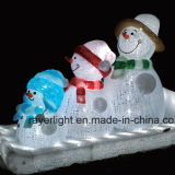 indicatore luminoso di motivo del pupazzo di neve di natale 3D per la decorazione del giardino e della casa