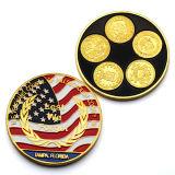 Americano in lega di zinco S.U.A. di bello disegno che lotta la moneta d'argento dell'oro rotondo del metallo del ricordo