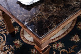 201枚のミラーのローズの金ステンレス鋼の大理石のダイニングテーブル