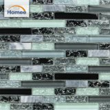 De buena calidad baratos crepitar banda brillante diseño mosaico de vidrio verde