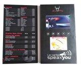 7.0 cartolina d'auguri dello schermo dell'affissione a cristalli liquidi di pollice TFT video