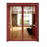 Two Track Glass Sliding Door Simple Design for Qatar