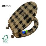 Asiento animal del Wc del asiento de tocador del MDF del diseño del estándar europeo