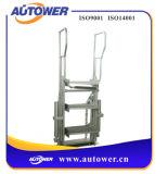 Aluminio galvanizado de los pasos de progresión/escaleras plegables portables de acero