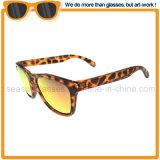 Estrutura de PC Oval Vintage UV óculos400 lente espelhada óculos de sol