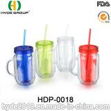 Freie BPA geben Plastikbecher mit Stroh und Griff frei