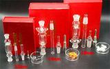 10mm/14mm/18mm Kit de coletor de néctar de três cores fumar Tubo de vidro
