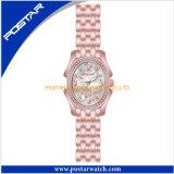 316L外科ステンレス鋼バンド楕円形の水晶腕時計