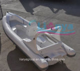 Liya 5.8m de Professionele Rubberboot van de Boot van de Vervaardiging van de Boot Stijve Opblaasbare Kruis