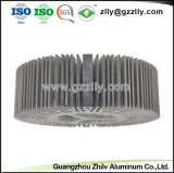 주문을 받아서 만드는 LED 빛을%s 주조 알루미늄 둥근 열 싱크를 정지하십시오